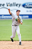 July 1, 2009:  Third Baseman Chase Austin (8) of the Jamestown Jammers in the field during a game at Dwyer Stadium in Batavia, NY.  The Jammers are the NY-Penn League Short-Season Class-A affiliate of the Florida Marlins.  Photo by:  Mike Janes/Four Seam Images