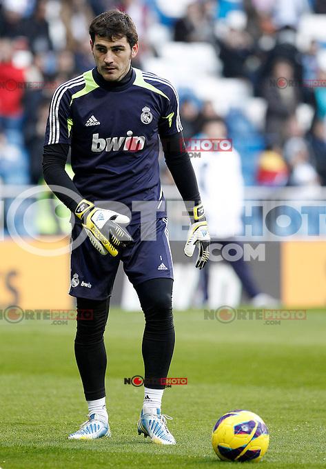 Real Madrid's Iker Casillas during La Liga match.January 06,2013. (ALTERPHOTOS/Acero) /NortePhoto