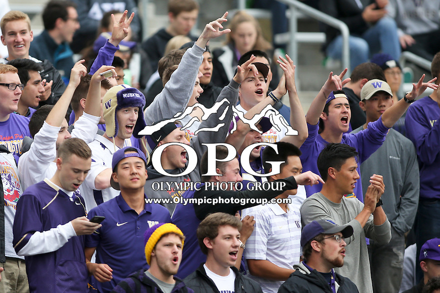 17 September 2016:   Washington fans cheered on the Washington Huskies during the game against Portland State.  Washington defeated Portland State 41-3 at the University of Washington in Seattle, WA.