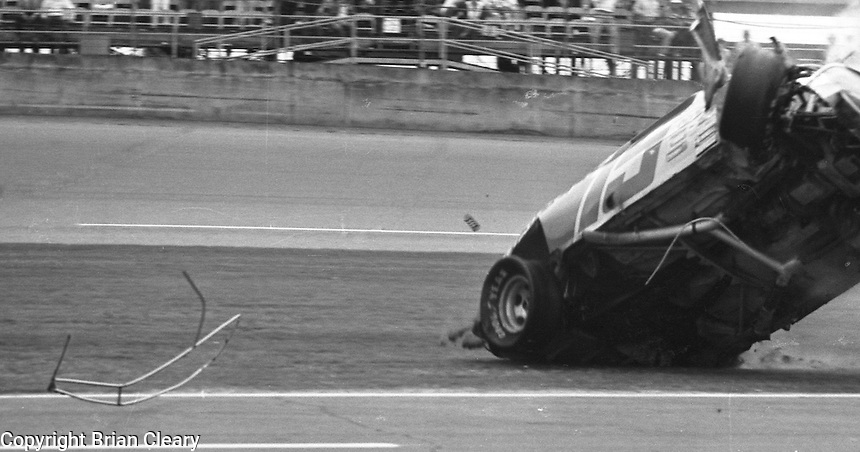 Ricky Rudd crash accident Busch Clash  at Daytona International Speedway in Daytona Beach, FL on February  1984. (Photo by Brian Cleary/www.bcpix.com)