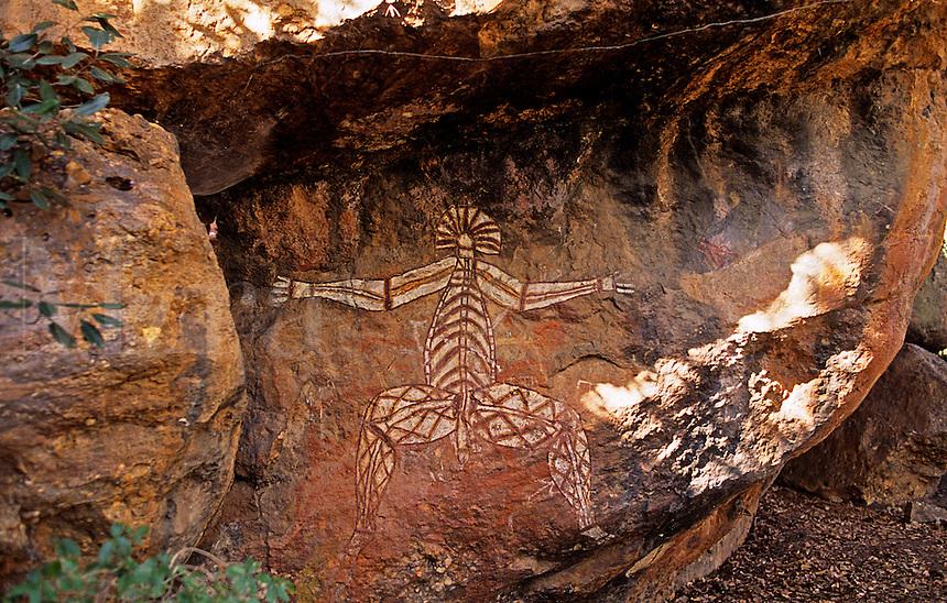 Aboriginal rock painting. Kakadu National Park. Northern Territory. Australia..
