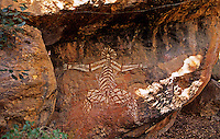 Aboriginal rock painting. Kakadu National Park. Northern Territory. Australia..