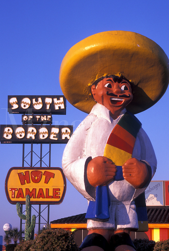 Pedro, South of the Border, SC, South Carolina, NC, Statue of Pedro at the South of the Border off of I-95 the South Carolina and North Carolina border.