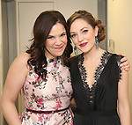 Lindsay Mendez and Laura Osnes backstage at  The American Pops Orchestra '75 Years of Streisand'  at the George Washington University Lisner Auditorium on January 13, 2017 in New York City.