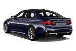 Car pictures of rear three quarter view of a 2019 BMW M5 Competition Base 4 Door Sedan angular rear