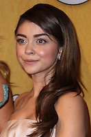 LOS ANGELES, CA - JANUARY 18: Sarah Hyland in the press room at the 20th Annual Screen Actors Guild Awards held at The Shrine Auditorium on January 18, 2014 in Los Angeles, California. (Photo by Xavier Collin/Celebrity Monitor)
