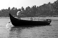 Traditiona wooden boat at Sindhudurg, India