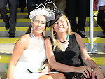 Yvonne O'Reilly and Karen Prendergast pictured at Bellewstown races. Photo:Colin Bell/pressphotos.ie
