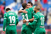 7th January 2018, Estadio Municipal de Butarque, Legales, Spain; La Liga football, Leganes versus Real Sociedad; Gabriel Pires (Leganes FC) celebrates his goal which made it 1-0