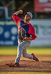 29 June 2014:  Lowell Spinners pitcher Ellis Jimenez on the mound against the Vermont Lake Monsters at Centennial Field in Burlington, Vermont. The Spinners defeated the Lake Monsters 7-5 in NY Penn League action. Mandatory Credit: Ed Wolfstein Photo *** RAW Image File Available ****