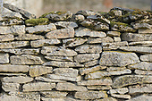 Oxfordshire, England. Detail of a dry stone wall.