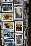 Display rack of picture postcards, Oxford, Oxfordshire, England, UK