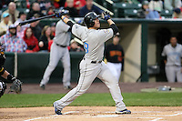 April 11th 2008:  Infielder Curtis Thigpen of the Syracuse Chiefs, Class-AAA affiliate of the Toronto Blue Jays, during a game at Frontier Field in Rochester, NY.  Photo by Mike Janes/Four Seam Images