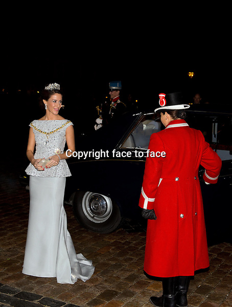 01-01-2014 Amalienborg Princess Marie and Prince Joachim at the New Years reception at Amalienborg in Copenhagen.<br /> Credit: Nieboer/PPE/face to face<br /> - No Rights for Netherlands -