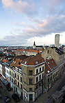 BRUSSELS - BELGIUM - 08 JANUARY 2012 -- Marolles the bohemian city part of Brussels. -- View over the Marolles from the Palais de Justice. -- PHOTO: Juha ROININEN /  EUP-IMAGES