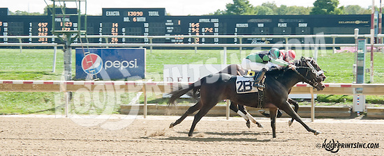Act Of The Hunt winning at Delaware Park on 9/28/13