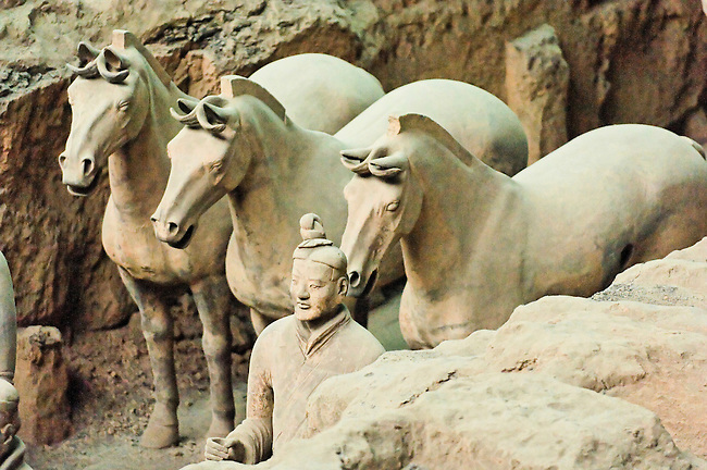 Museum of Qin Terracotta Warriors and Horses, Pit #1.  Qin Shi Huangdi unified China in 200 BC.