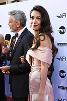 07 June 2018 - Hollywood, California - George Clooney, Amal Clooney. American Film Institute' s 46th Life Achievement Award Gala Tribute to George Clooney held at Dolby Theater.  <br /> CAP/ADM/BT<br /> &copy;BT/ADM/Capital Pictures