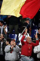 Calcio, Serie A: Roma-Juventus. Roma, stadio Olimpico, 3 aprile 2011..Football, Italian serie A: AS Roma vs Juventus. Rome, Olympic stadium, 3 april 2011..AS Roma fans wave flags..UPDATE IMAGES PRESS/Riccardo De Luca
