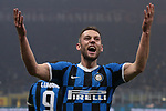Stefan de Vrij of Inter celebrates after scoring to give the side a 3-2 lead during the Serie A match at Giuseppe Meazza, Milan. Picture date: 9th February 2020. Picture credit should read: Jonathan Moscrop/Sportimage