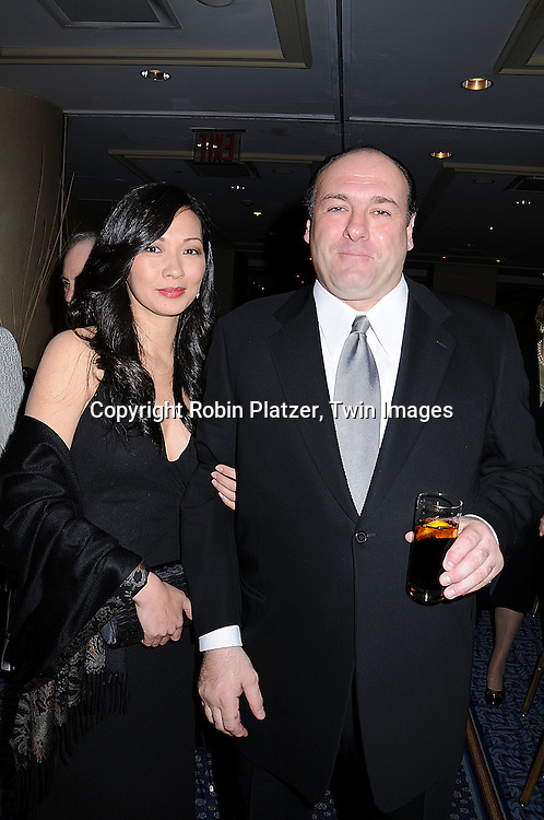 "James Gandolfini and fiancee Deborah Lin.at The HeartShare Human Services of New York Spring Gala and Auction on April 8, 2008 at The Marriott .Marquis Hotel in New York City. Cameron Mathison of ""All My Children""  and Tony Sirico of ""The Sopranos"" were honored. ..Robin Platzer, Twin Images"