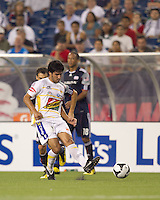 Monarcas Morelia forward Rafael Marquez Lugo (7) passes the ball. The New England Revolution defeated Monarcas Morelia in SuperLiga 2010 group stage match, 1-0, at Gillette Stadium on July 20, 2010.