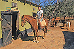 David On Horse (Duke) During Great Zimbawe Safari