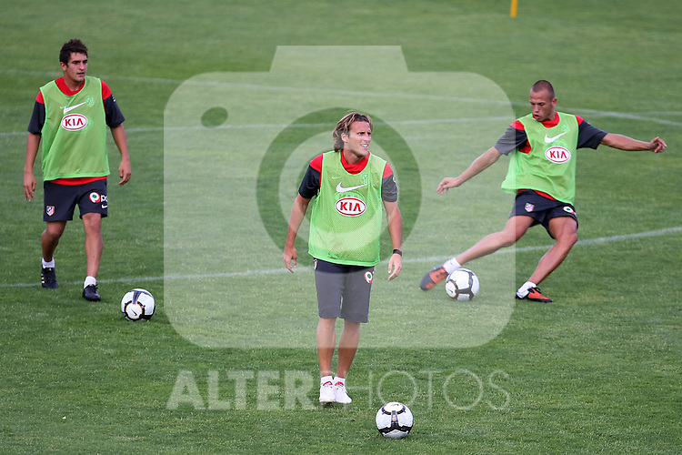 Atletico de Madrid's  during training sesion. August 05 2009. (ALTERPHOTOS/Acero).