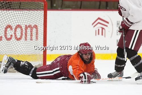 Colin Blackwell (Harvard - 63) - The Harvard University Crimson practiced on Friday, October 22, 2013, at Bright-Landry Hockey Center in Cambridge, Massachusetts.