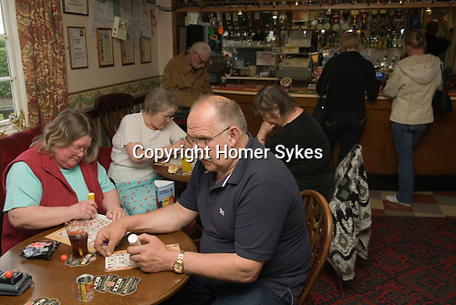 The Bricklayers Arms near Boston Wednesday evening auction and Bingo nght. The Fens. Lincolnshire. UK 2008.
