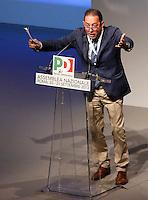L'europarlamentare Gianni Pittella interviene durante la seconda giornata dell'Assemblea Nazionale del Partito Democratico a Roma, 21 settembre 2013.<br /> European parliamentary Gianni Pittella speaks during the second day of the Italian Democratic Party's National Assembly in Rome, 21 September 2013.<br /> UPDATE IMAGES PRESS/Riccardo De Luca