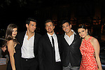 """Prospect Park's OLTL Kelley Missal and Josh Kelly pose with All My Children's Martin Harvey, Robert Scott Wilson and Jordan Lane Price at after party at New York Premiere Event for beloved series """"All My Children"""" on April 23, 2013 at NYU Skirball, New York City, New York  as The Online Network (TOLN) - AMC - OLTL  begin airing on April 29, 2013 on Hulu, Hulu Plus. (Photo by Sue Coflin/Max Photos)"""