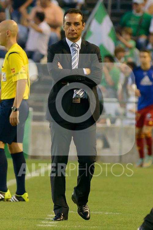 Huelva's coacher <br /> ose Luis Oltra during the match between Real Betis and Recreativo de Huelva day 10 of the spanish Adelante League 2014-2015 014-2015 played at the Benito Villamarin stadium of Seville. (PHOTO: CARLOS BOUZA / BOUZA PRESS / ALTER PHOTOS)