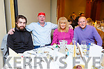 Andrew Hickey with Paul, Mary and Maurice Murphy enjoying the North Kerry Wheelchair Associations Christmas party in the Meadowlands Hotel on Sunday.