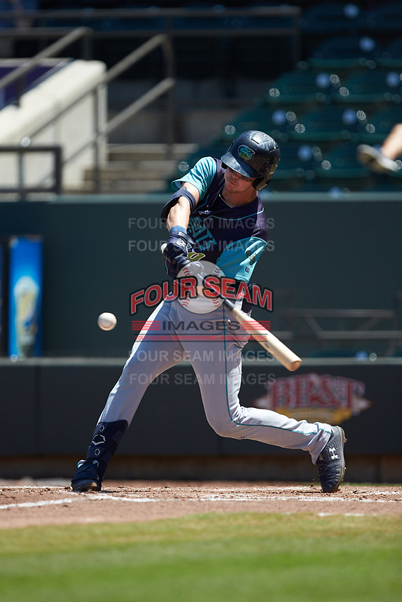 Nolan Jones (10) of the Lynchburg Hillcats at bat against the Winston-Salem Rayados at BB&T Ballpark on June 23, 2019 in Winston-Salem, North Carolina. The Hillcats defeated the Rayados 12-9 in 11 innings. (Brian Westerholt/Four Seam Images)