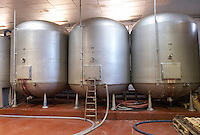 insulated steel tanks bodegas frutos villar , cigales spain castile and leon