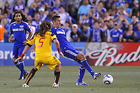Davy Arnaud, Kyle Beckerman...Kansas City Wizards and Real Salt Lake played to a 1-1 tie at Community America Ballpark, Kansas City, Kansas.