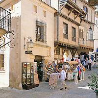 Spain, Balearic Islands, Mallorca, Palma de Mallorca: Pueblo Espanol (mini-Spain), Calle Mayor | Spanien, Balearen, Mallorca, Palma de Mallorca: Pueblo Espanol - Klein Spanien, Calle Mayor