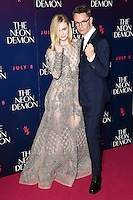 Elle Fanning and Nicolas Winding Refn<br /> arrives for the premiere of &quot;The Neon Demon&quot; at the Picturehouse Central, London.<br /> <br /> <br /> &copy;Ash Knotek  D3125  30/05/2016