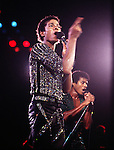 Michael Jackson 1981 with The Jacksons.© Chris Walter.