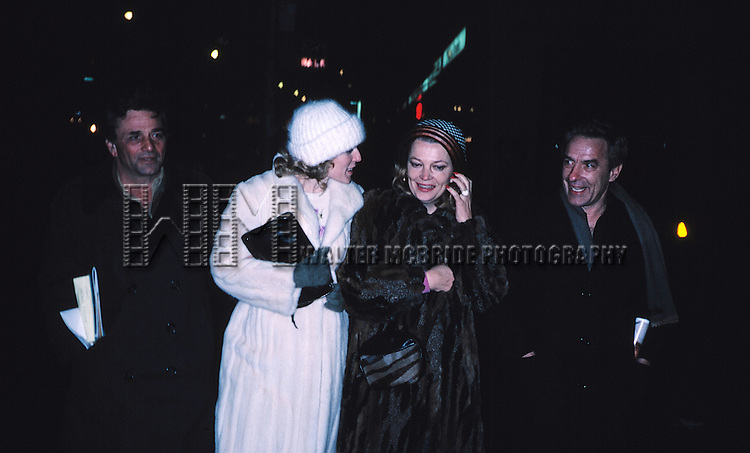 Peter Falk with wife, Gena Rowlands & John Cassavettes 1982 walking down Fifth Avenue in New York City