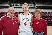 STANFORD, CA-JANUARY 18, 2012 - Taylor Greenfield after Stanford's win over the visiting Washington State Cougars. The Cardinal defeated WSU 75-41.