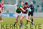 David Clifford Kerry in action against Micheál Burns Galway in the Allianz Football League Division 1 Round 4 match between Kerry and Galway at Austin Stack Park, Tralee, Co. Kerry.