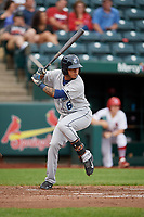 Corpus Christi Hooks second baseman Arturo Michelena (6) at bat during a game against the Springfield Cardinals on May 31, 2017 at Hammons Field in Springfield, Missouri.  Springfield defeated Corpus Christi 5-4.  (Mike Janes/Four Seam Images)