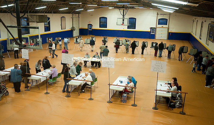 TORRINGTON,  CT-110816JS10- The Torrington Armory saw a steady stream of voters throughout the day on Tuesday. <br /> Jim Shannon Republican American
