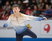 24th March 2018, Mediolanum Forum, Milan, Italy;  Misha GE (UZB) during the ISU World Figure Skating Championships, Men Free Skating at Mediolanum Forum in Milan, Italy