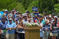 Jordan Spieth (USA) fans welcome him home on the first tee during round 1 of the AT&amp;T Byron Nelson, Trinity Forest Golf Club, at Dallas, Texas, USA. 5/17/2018.<br /> Picture: Golffile | Ken Murray<br /> <br /> <br /> All photo usage must carry mandatory copyright credit (&copy; Golffile | Ken Murray)