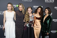 HOLLYWOOD, CA - SEPTEMBER 29: Sarah Wynter, Ever Carradine, Diana Hopper, Tania Raymonde, Olivia Thirlby at the Amazon Red Carpet Premiere Screening of Goliath at the London West Hollywood in West Hollywood, CA September 29, 2016. Credit: David Edwards/MediaPunch