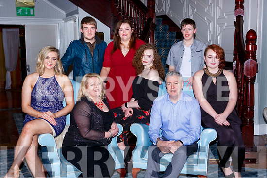 Denis O'Donoghue Ferndale Avenue Killarney celebrated his 50th birthday with his family in the Killarney Avenue Hotel on Saturday night  front row l-r: Illona, Madeleine, Klara, Denis and Caitlin. Back row: Stephen, Heather and  Donnacha O'Donoghue