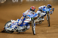 NICKI PEDERSEN (Denamark) in action during the 2016 Adrian Flux British FIM Speedway Grand Prix at Principality Stadium, Cardiff, Wales  on 9 July 2016. Photo by David Horn.